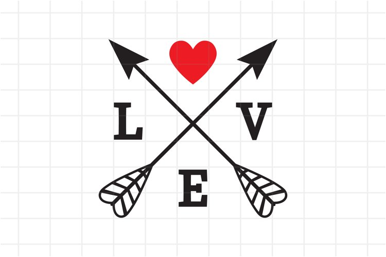 Valentines Day Svg Love Crossed Arrows Cut File 725273 Cut Files Design Bundles