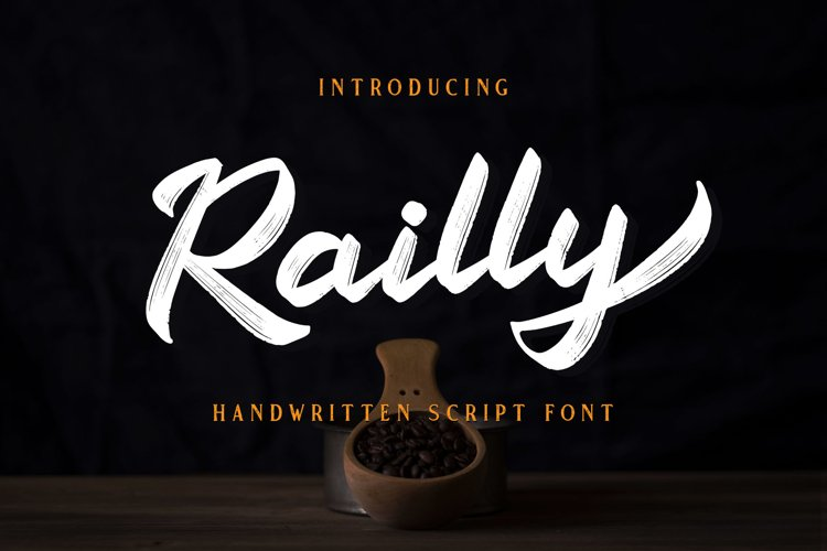 Railly - Handwritten Script Font example image 1