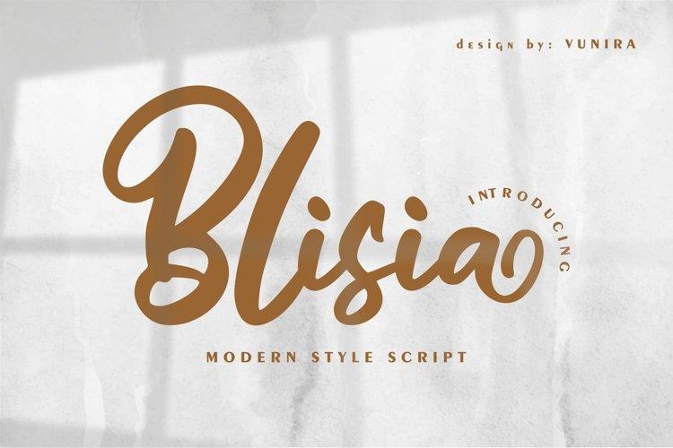 Blisia | Modern Style Script example image 1