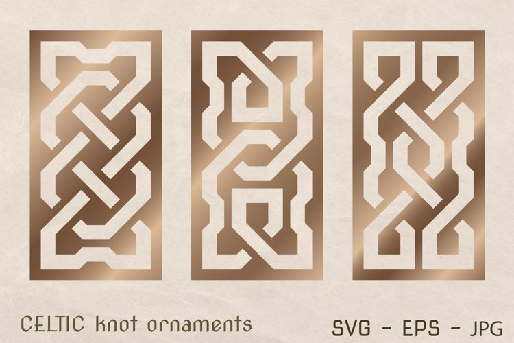 CELTIC knot ornaments set. Laser CUTTING stencil.