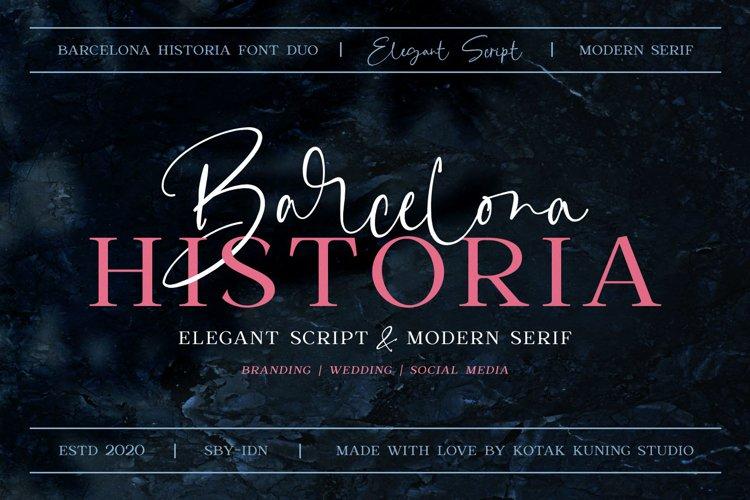 Signature Duo Font - Barcelona Historia example image 1
