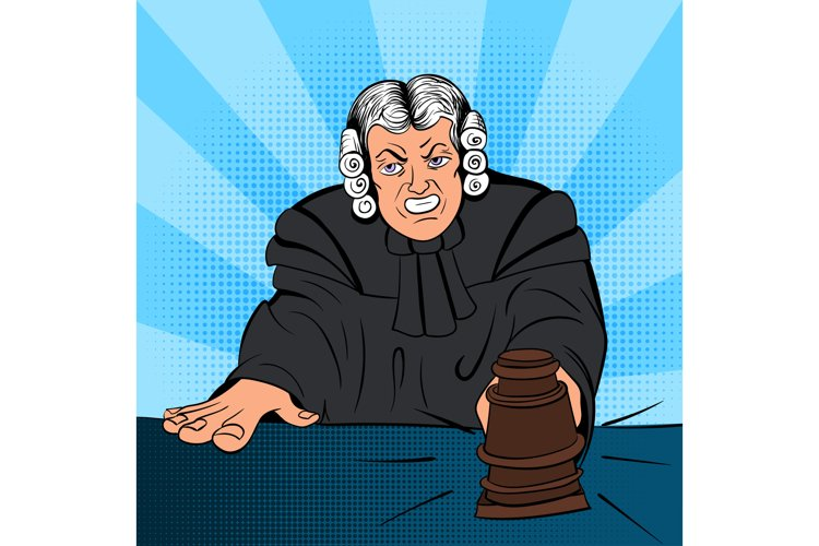 Angry judge comics character example image 1