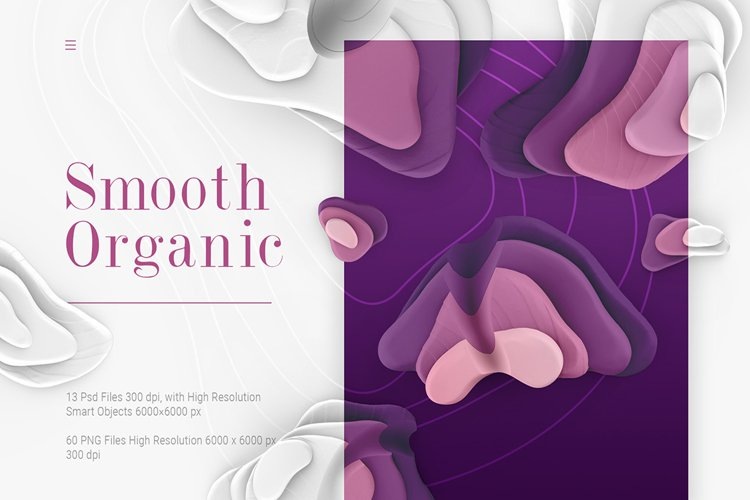 Smooth Organic / Set of graphic elements example image 1