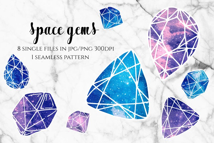 Space Gems - Blue and Purple Galaxy example image 1