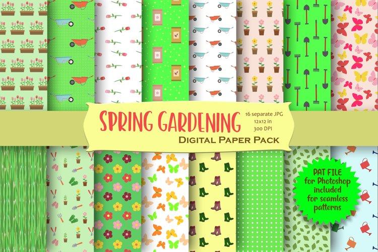Spring Gardening Digital Paper Pack example image 1