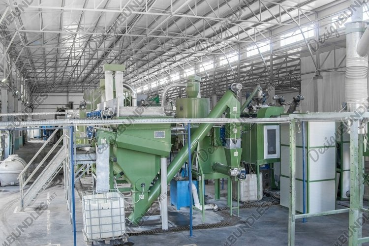 Plastic bottle recycling plant example image 1