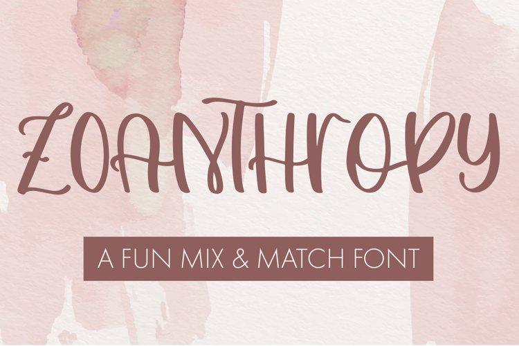 Zoanthropy - A Fun Mix & Match Font example image 1