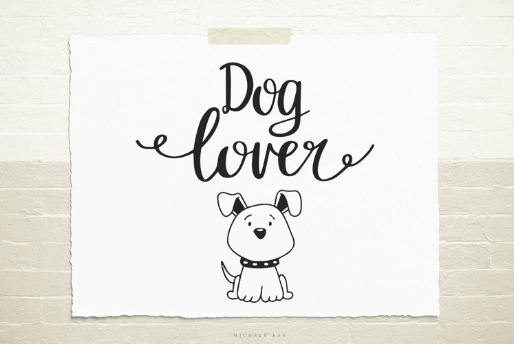 Dog lover SVG, Cutting file, Decal