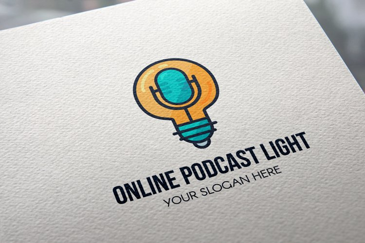 Online Podcast Light Logo example image 1