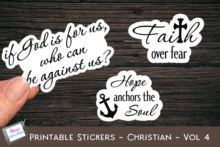 Printable Stickers - Christian Bible Verses - Vol. 4 - PNG example image 1
