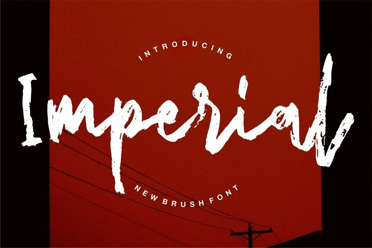 Web Font Imperial - New Brush Font example image 1