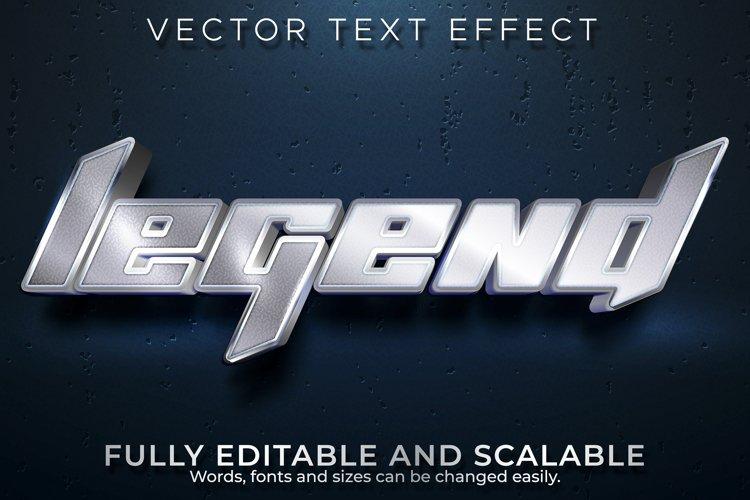 Editable text effect, metallic legend text style