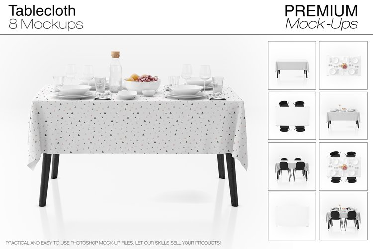Tablecloth Mockup Set example image 1