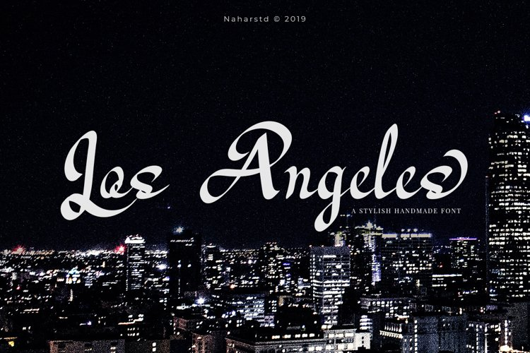 Los Angeles - Modern Script Font example image 1