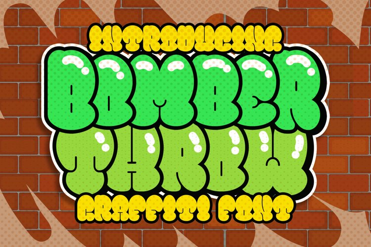 Bomber Throw Graffiti Font example image 1