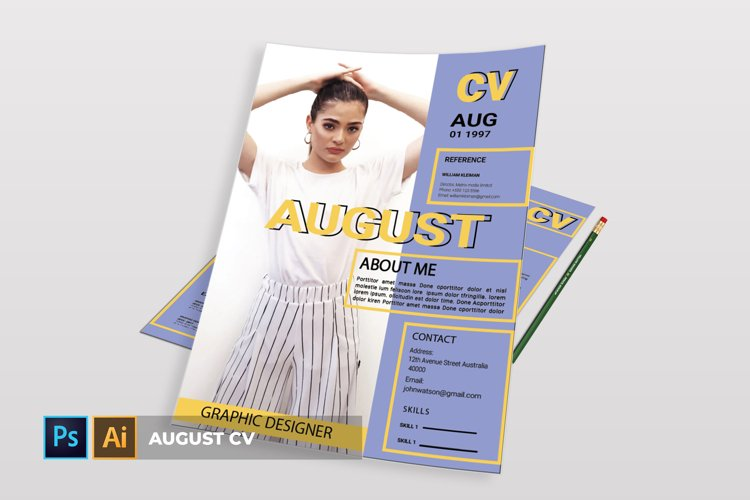 August | CV & Resume example image 1