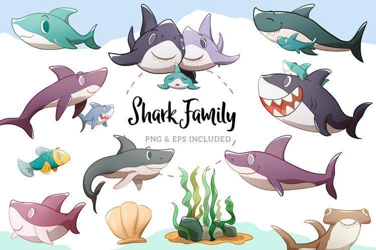 Shark Family Illustrations example image 1