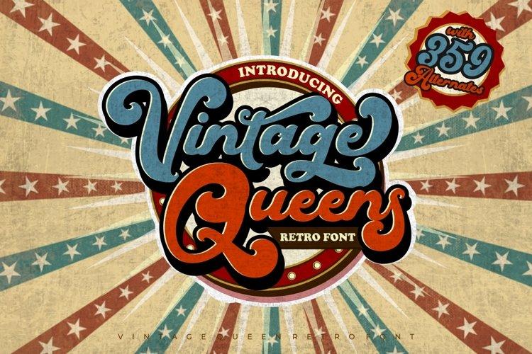 Vintage Queens - Retro Bold Script
