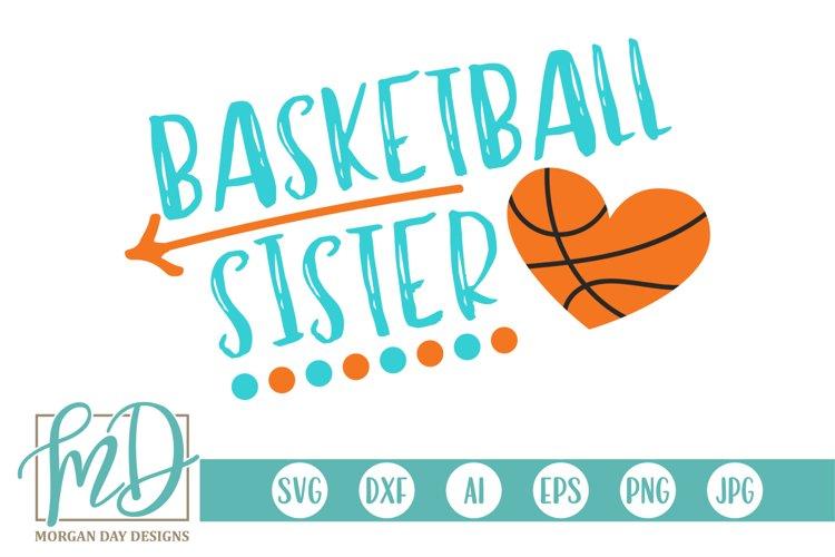 Basketball - Proud Sister - Basketball Sister SVG example image 1