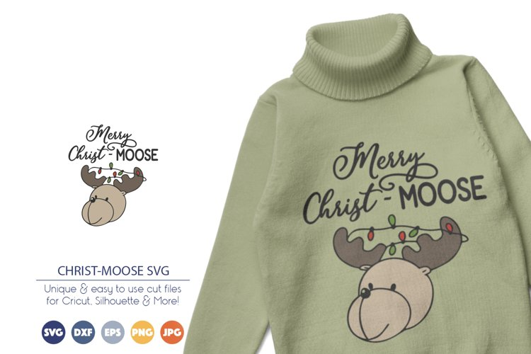 Merry Christmas SVG   Funny Moose SVG Cut File