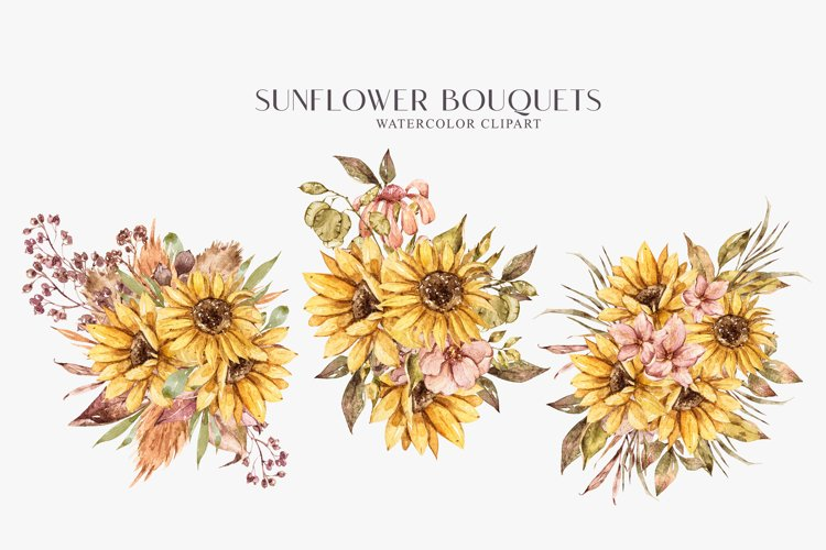 Sunflower bouquets clipart. Dried yellow flower bouquet png