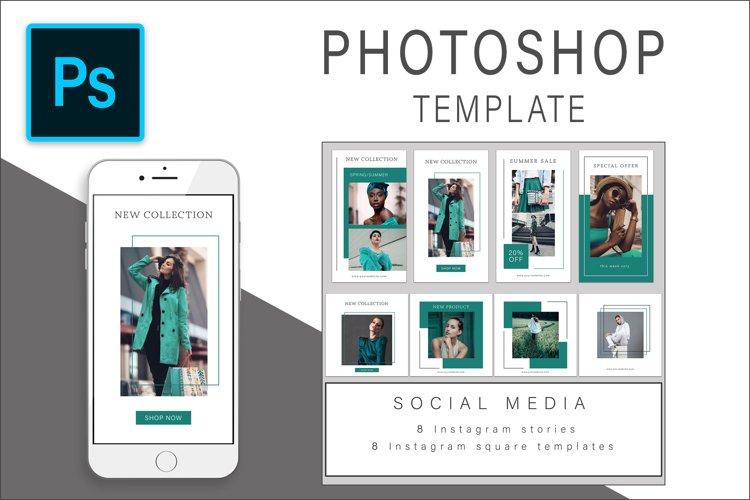 Instagram Photoshop templates bundle example image 1