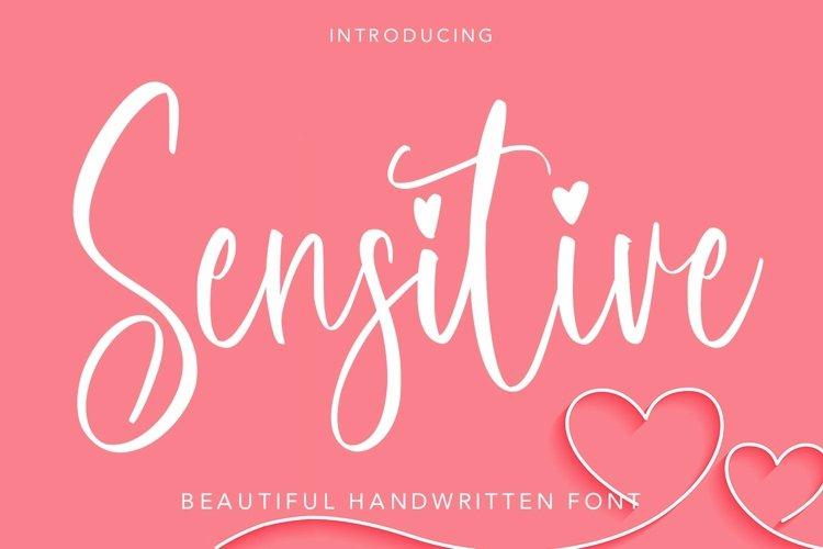 Web Font Sensitive - Beautiful Handwritten Font example image 1