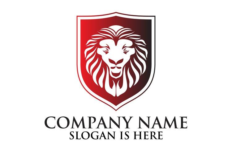 Lion shield logo design ,Elegant lion head logo example image 1