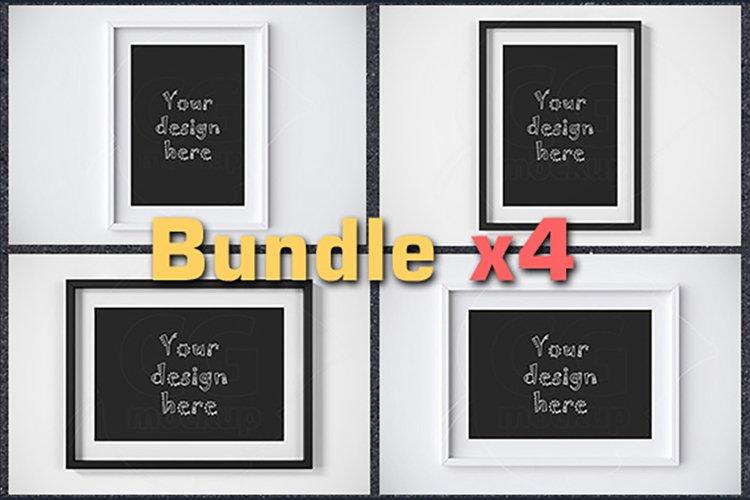 BUNDLEx4 matted frame mockup A4 size