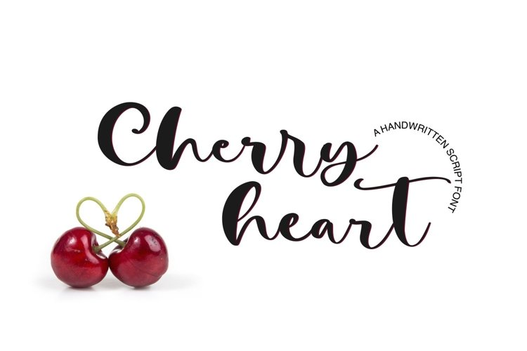 Web Font Cherry Heart Script Font example image 1