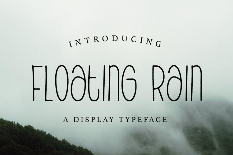 Web Font Floating Rain example image 1