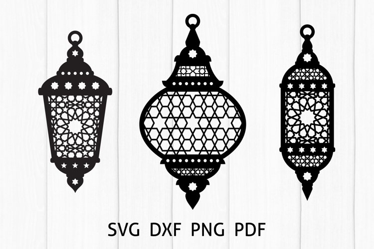Ramadan Lantern, Arabic Lamp SVG, DXF, PNG
