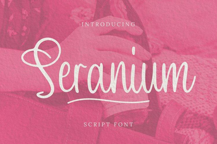 Seranium Font example image 1