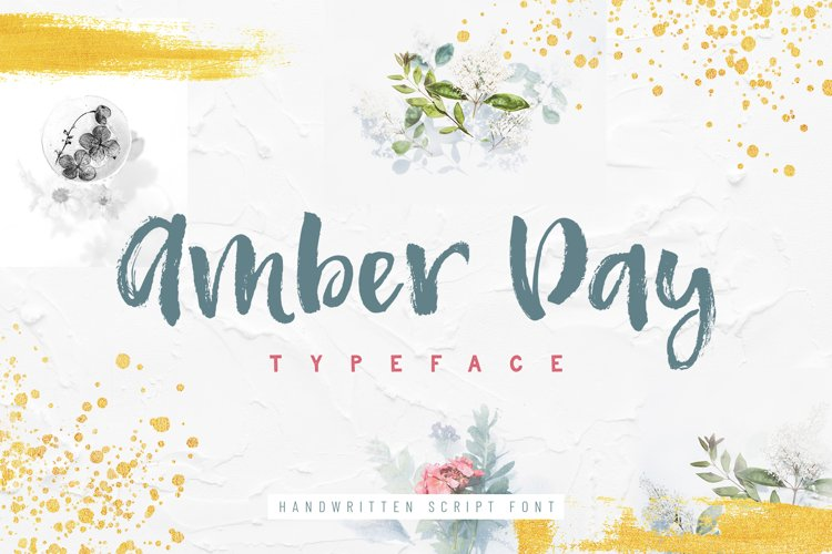 Amber Day - Brush Font example image 1