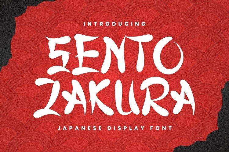 Web Font Sentozakura Font example image 1