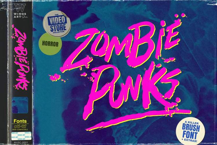 Zombie Punks - The Vintage Horror Movie Font example image 1