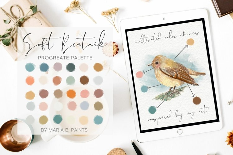 Soft Procreate Palette Bohemian Beatnik Color Scheme Art example