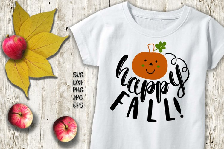 happy fall svg, fall svg, autumn svg, happy fall y'all svg example image 1