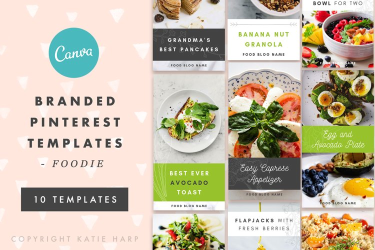Pinterest Canva Templates - Foodie
