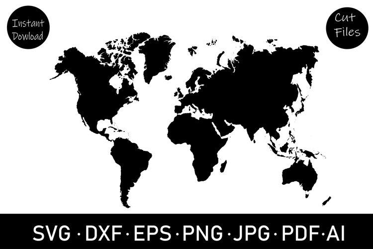 World map SVG cut file, clipart, sublimation, SVG, Cut file