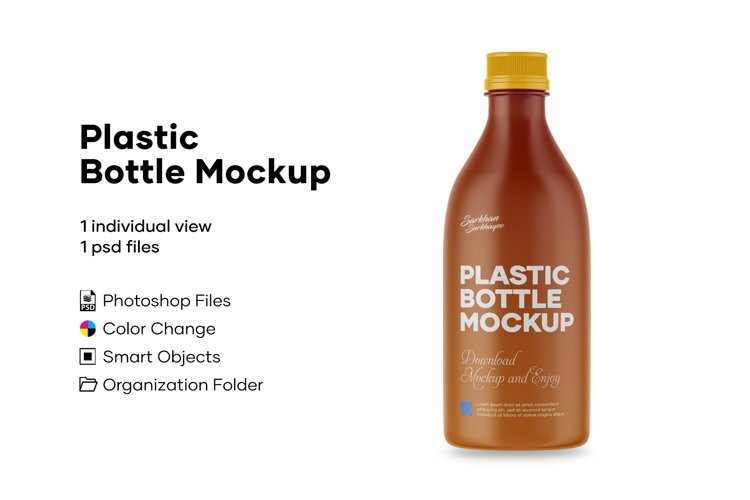 Plastic Bottle Mockup example image 1