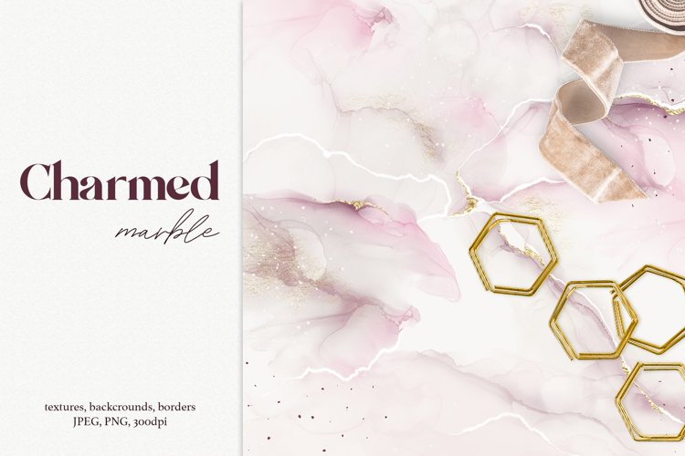 Charming marble textures, backgrounds and borders