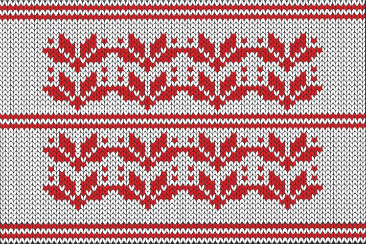 Christmas wool snowflakes pattern example image 1