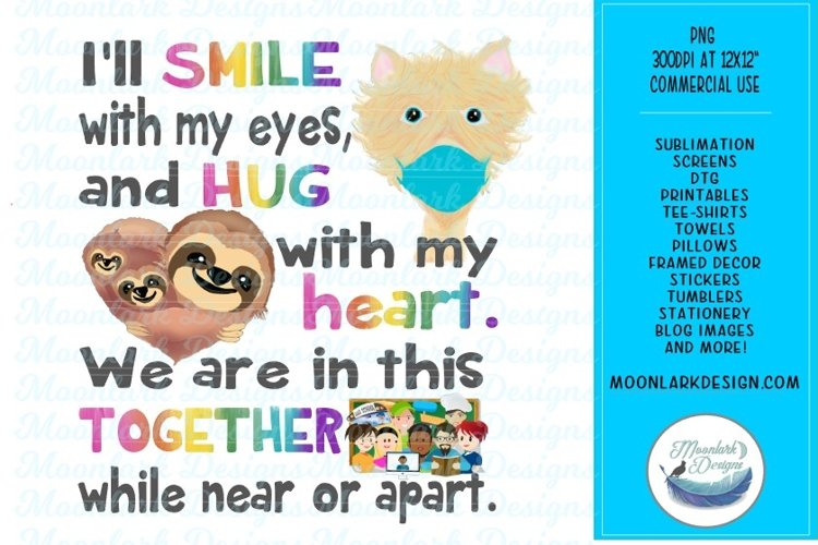 We are in this together, PNG sublimation, stickers and more example image 1