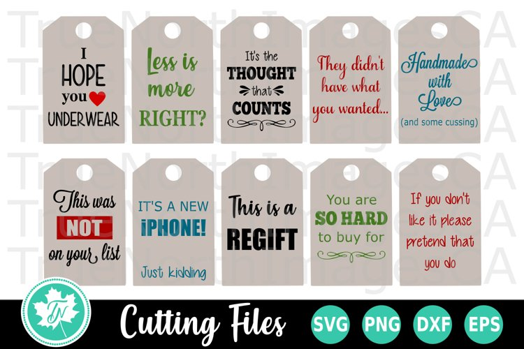Christmas SVG | Gift Tags SVG | Funny Gift Tags SVG example image 1