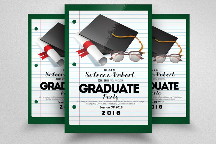 Graduation Flyer Template example image 1