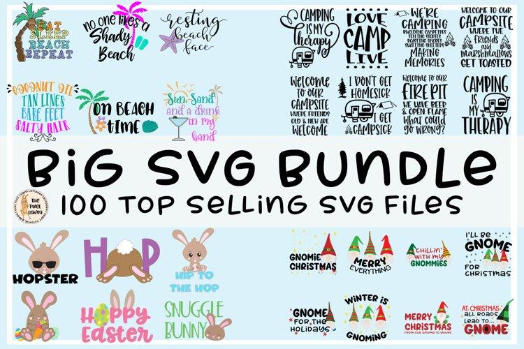 Big SVG Bundle | 100 Top Selling SVG Files example image 1