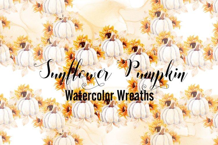Sunflower Pumpkin - Watercolor Wreaths
