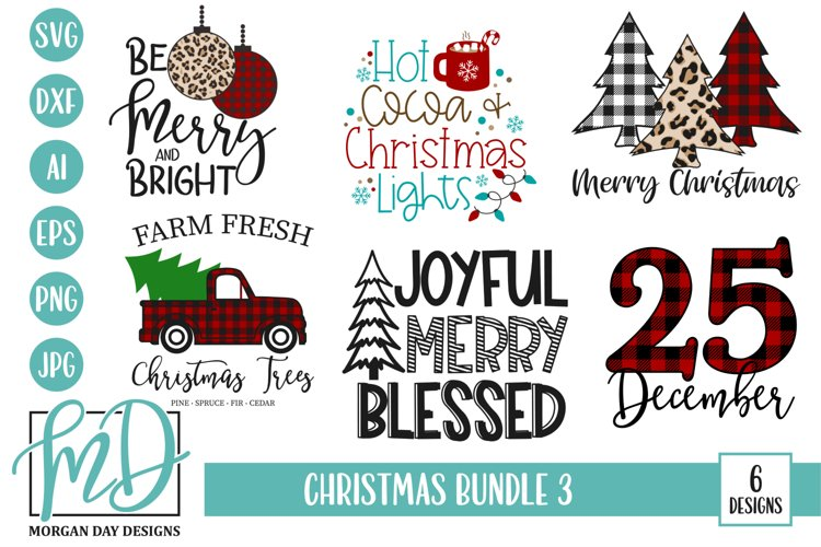 Merry Christmas - Leopard - Plaid - Christmas SVG Bundle