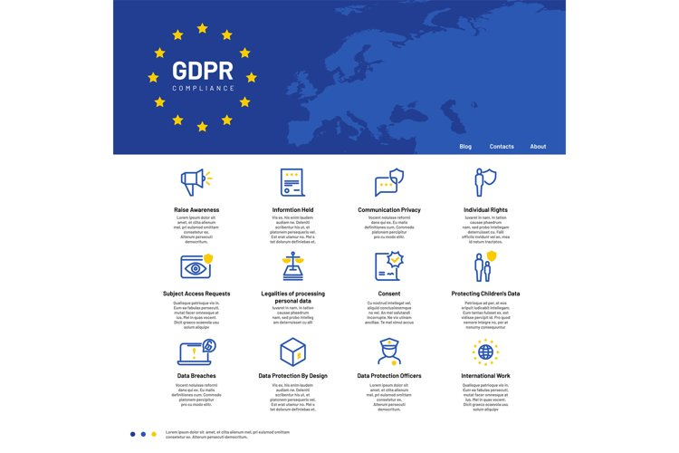 GDPR concept. General Data Protection Regulation, safety per example image 1